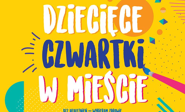 Dziecięce czwartki w mieście - plakat 2018