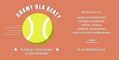 Gramy dla Beaty – Turniej Tenisowy z Gwiazdami @ ul. Niecała 6a