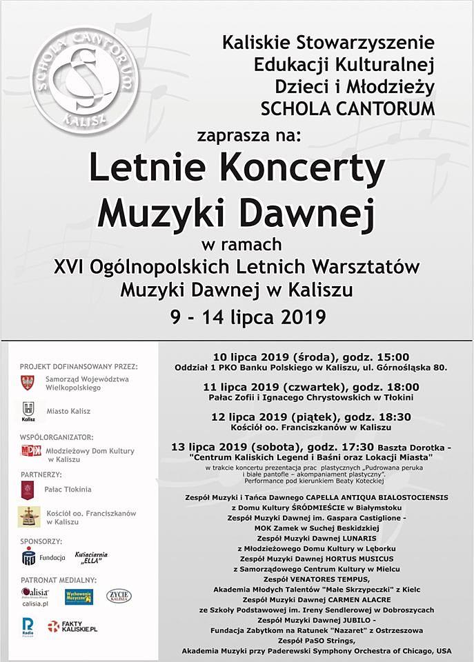 XVI Ogólnopolskie Warsztaty Muzyki Dawnej